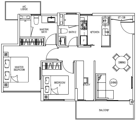The Rainforest EC Floor Plan Type A1